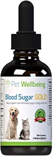 Pet Wellbeing Blood Sugar Gold for Dogs - Natural Support for Healthy Blood Sugar Levels in Dogs - 2 Ounce 59 Milliliter