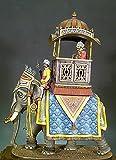 Andrea Miniatures The Crown Jewelry Maraya sobre Elefante White Metal escala 54 mm