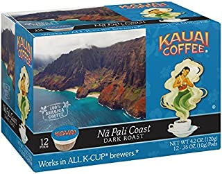 Kauai Coffee Single-serve Pods, Na Pali Coast Dark Roast – 100% Premium Arabica Coffee..