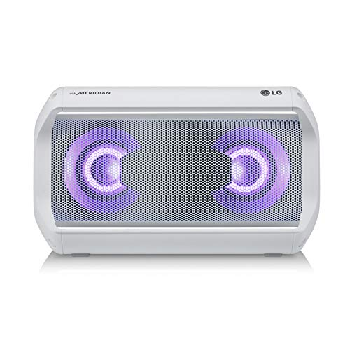 LG PK5W XBOOM Go Water-Resistant Wireless Bluetooth Party Speaker with Up to 18 Hours Playback - White