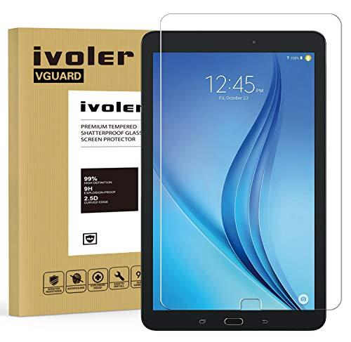 ivoler Protector de Pantalla para Samsung Galaxy Tab E/Tab E Nook 9.6 Pulgadas (SM-T560), Cristal Vidrio Templado Premium [Dureza 9H] [Anti-Arañazos] [Sin Burbujas]