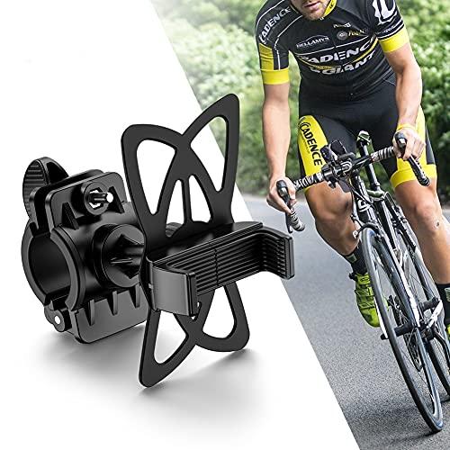 LALEO Soporte Movil Bicicleta, Soporte Movil Moto con Rotación 360°, Soporte para Teléfono de Bicicleta de Aleación de Aluminio, Soporte Movil Bici Universal para 4,7-7,2' Smartphones