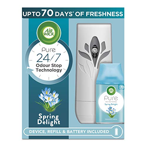 Air Wick Air Freshener Freshmatic Auto Spray Gadget and 1 Refill, Spring Delight, 250ml