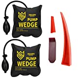 Seven Sparta Air Wedge Pump Kit, 2 PCS Air Wedge Bag Leveling Kit & Alignment Tool Inflatable Shim Bag with 3 Tools for Home Use (Yellow)