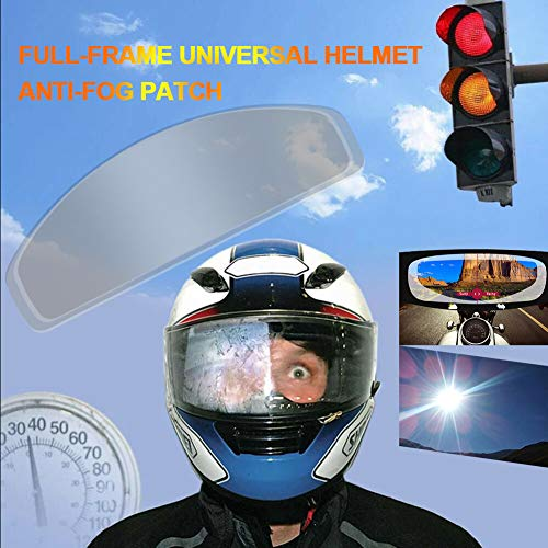 Gizayen Motorcycle Helmet Lens Anti Fog Film Ultra Clear Mist Visor Goggles Stickers, Universal Anti Fog Mist Visor Ultra Clear Helmet Insert Film for Fog City