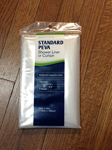 Maytex Standard Peva Shower Liner or Curtain