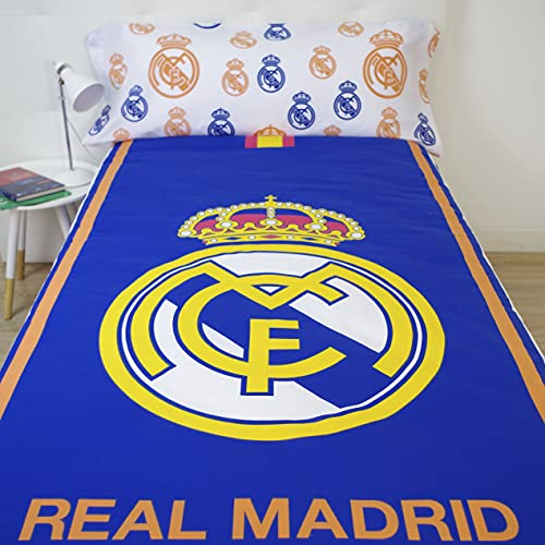 10XDIEZ Funda nórdica Real Madrid 186004 | (Cama de 90cm - Estampado)