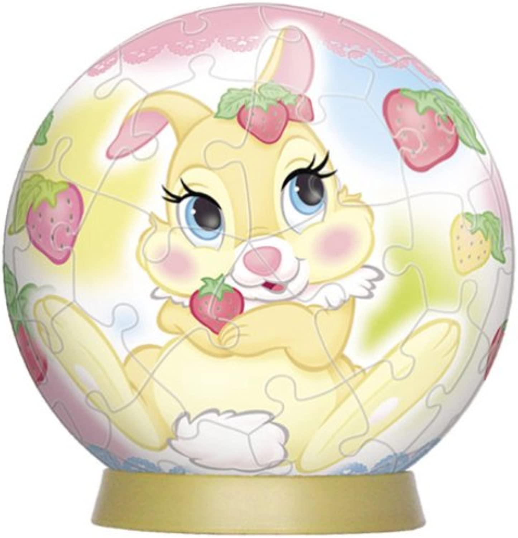 3D sphere puzzle Disney 60 piece Miss Miss Miss Bunny (diameter of about 7.6cm) e5376f