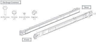 Synology RKS1317 - Kit de Montaje para Rack (1/2/3U, Acero Inoxidable), Plateado