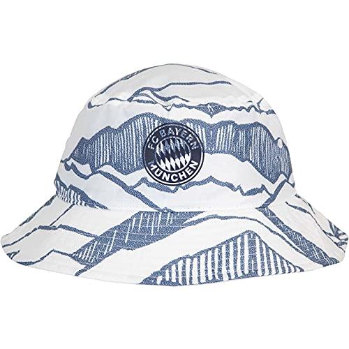 adidas FC Bayern München - Sombrero de pescador, blanco/azul marino, Talla única