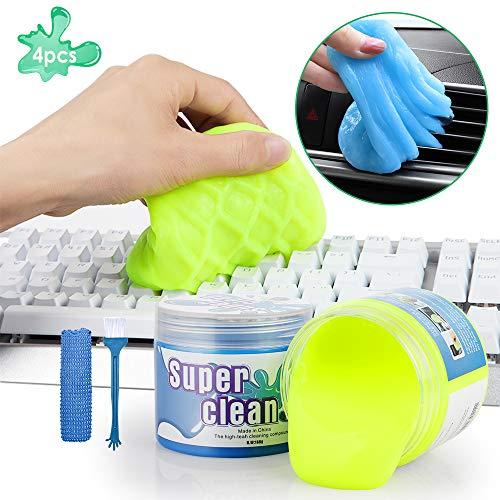 GeeRic 2Pcs Tastatur Reinigungsgel,Tastatur Reiniger Super Clean Gel Tastatur reinigungsgel Staubreiniger für Laptop PC Tastaturen, Auto Entlüftungsöffnungen, Kameras, Drucker, Taschenrechner