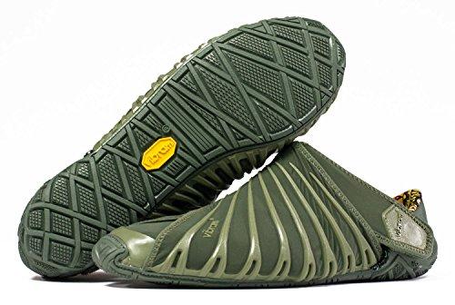 Zapatillas Vibram FiveFingers Furoshiki 2, para mujeres, en juego original, zapatos descalzados, con tecnología de bobinado, con práctica bolsa para llevar, verde oliva, 38