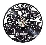 Reloj De Pared Vintage Accesorios De Decoración del Hogar Diseño Moderno Reloj De Vinilo Colgante Reloj De Pared Reloj Único 12' Idea de Regalo。 Pareja de Pared de ladrillo