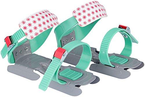Nijdam® Junior Kinderschlitschuhe verstellbare Gleitschuhe Größe 24 - 35 Mintgrün Grau Koralle