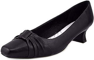 Easy Street Womens Waive Block Pumps - Black - Size 9.5 B