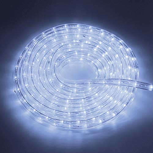 LED Lichterschlauch 12Mete Lichtschlauch Lichterkette Licht Leiste 36LEDs/M und Außenbereich Lauflichter für Saal,Garten,Weihnachten,Hochzeit,Partyund Innen Kaltweiß