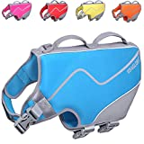 Vivaglory Dog Life Jackets, Snug & Safer Neoprene Life Vest for Dogs with Reflective Trims& Built-in D-Ring, Blue XL