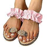ypyrhh Sandalia Tipo Masaje,El Agua de Gran tamaño ejerce el Amante, con Zapatos Planos afuera.-Rosado_41,Zapatillas Flip Flops Sandal