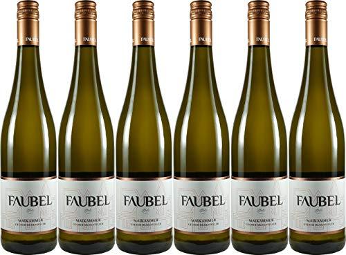 Faubel Maikammer Gelber Muskateller 2018 Feinherb (6 x 0.75 l)