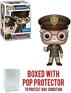 Funko POP! Movies Captain America Stan Lee as a General #282 Walmart Exclusive! Collectible Vinyl Figure (Bundled with Pop Protector)