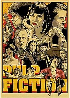 haoziggdeshoop Vintage Poster película clásica Pulp Fiction/Kill Bill/Fight Club Poster Retro Poster Pintura Decorativa del Arte 50x70cm(haoziggno-618)