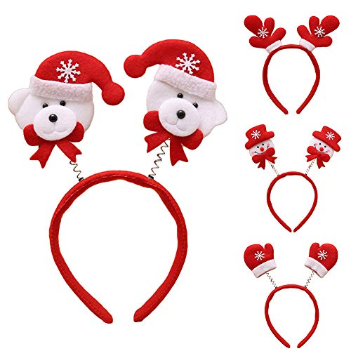 LbojailiAi Weihnachten Kinder Erwachsene Party Headwear Geschenk Geweih Weihnachtsmann Stirnband Haarband Für Kopf Schneemann*