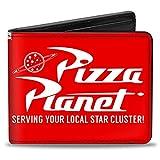 Cartera Bifold PU Toy Story Pizza Planet Sirviendo a su Estrella Local Rojo Blanco