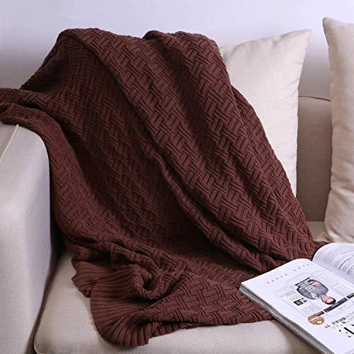 OROOTL - Manta de punto (130 x 180 cm, suave, cómoda, ligera, lavable a máquina, apta para la oficina, sofá o cama.