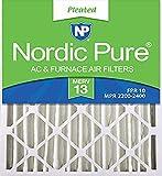Nordic Pure 20x25x4 (3-5/8 Actual Depth) MERV 13 Pleated AC Furnace Air Filter