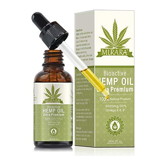 Aceite de semilla de cáñamo orgánico, gotas de aceite de cáñamo p