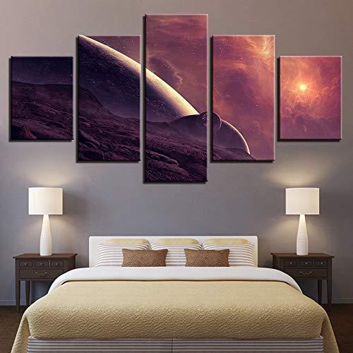 VVGGLL 5 Leinwanddrucke Leinwandbilder Wohnkultur Room Wars Tod Gemälde Hd Drucke Space Destroyer Poster Wandkunst Drucke Auf Leinwand