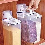 Juego de recipientes para cereales con dispensador de arroz y cilíndrico de...