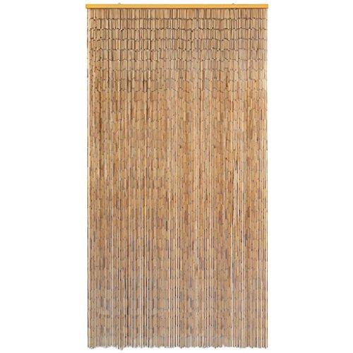 Festnight Cortina de Puerta,Bambú,contra Insectos,Marrón (120x220 cm)