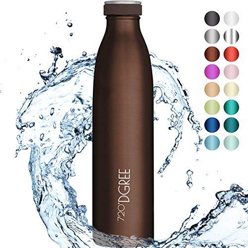 """720°DGREE Edelstahl Trinkflasche """"milkyBottle"""" - 750ml - BPA-Frei, Auslaufsicher, Kohlensäure geeignet - Thermosflasche für Sprudel, Sport,..."""