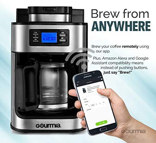 Cafetière WIFI Gourmia avec Moulin Intégré - Capacité de 10 Tasses - Compatible avec Alexa et Google - Modèle GCMW4750 - 2