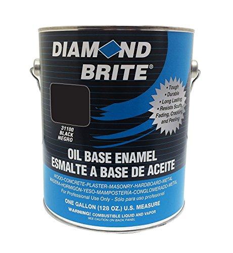 Diamond Brite Paint 31100 1-Gallon Oil Base All Purpose Enamel Paint Black