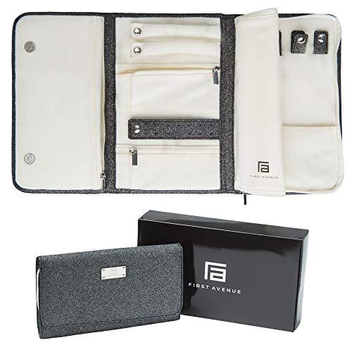Jewelry Storage Cases for Women Portable Travel Jewelry Organizer Roll Foldable Jewelry...