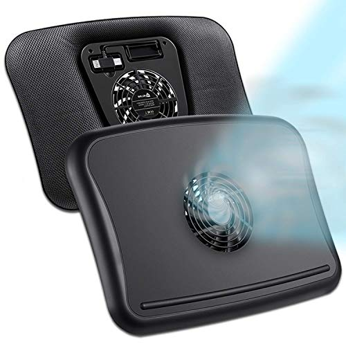 KLIM Comfort + Base di Raffreddamento per Laptop + Protegge te ed il tuo PC dal calore + NOVITÀ 2021 + silenziosa e confortevole per laptop da 10 a 15.6 pollici + stabile + ventola silenziosa