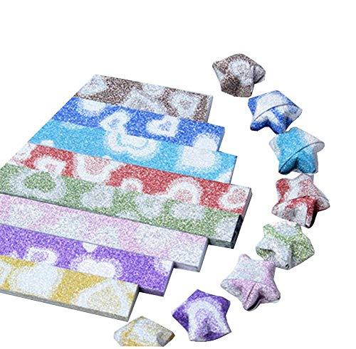 Black Temptation [Brillando] Brillante Origami Lucky Star Origami Regalo Hecho a Mano, 8 Colores 316 Hojas