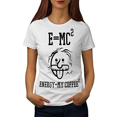 wellcoda Einstein Kaffee Frau T-Shirt Lustig Lässiges Design Bedrucktes T-Shirt