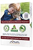 Arava Flea & Tick Prevention for Cats & Puppies - 4-Doses – Cat Flea Treatment - Botanical Flea & Tick Control Drops Repel Pests with Natural Oils – 100% Safe for Pets - Enhanced Defense & Prevention
