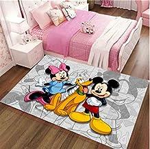 juan Alfombra Cute Mickey Mouse Mat Crawling Mat Antideslizante Personalidad Anime De Dibujos Animados Baño Sala De Estar Alfombras Dormitorio Habitación Infantil Decoración De Cabecera 80Cm * 120Cm