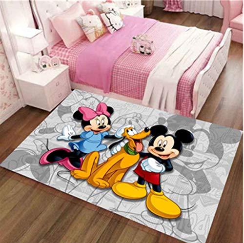 Alfombra Cute Mickey Mouse Mat Crawling Mat Antideslizante Personalidad Anime De Dibujos Animados Baño Sala De Estar Alfombras Dormitorio Habitación Infantil Decoración De Cabecera 80Cm * 120Cm