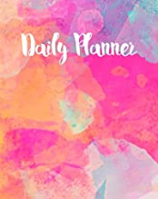 Daily Planner: Abstract Watercolor Time Management Journal to Do List Planner Daily Task Meals Exercise Notebook Organizer