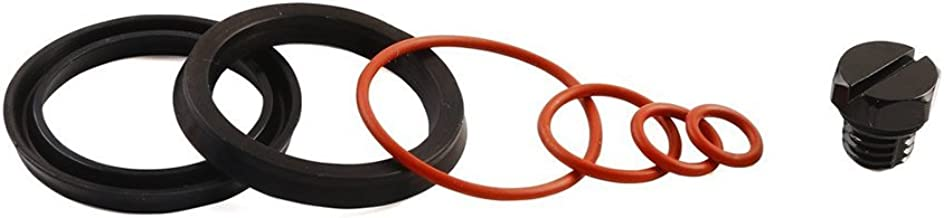 iFJF Fuel Filter Head Primer Seal Rebuild Kit and Air Bleeder Screw for 2001-2013 GM Duramax Fuel Filter Housing -Aluminum Screw(Black)