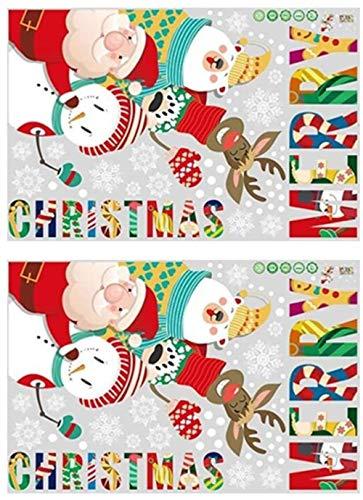 XIAOGINGV Camera Wall Sticker 2pcs di Natale Frigorifero Sticker Natale Sticker murale Finestra Vacanze Si aggrappa Bambini Sticker Decorative for la Festa del Partito della Decorazione di Natale