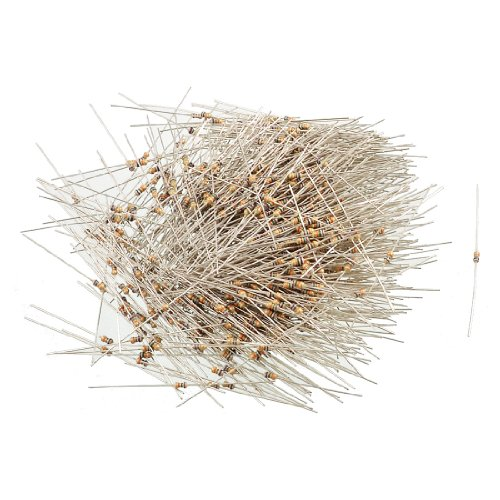 Aexit 150V 1/6W Fixed Resistors Watt 75K Ohm 5% Axial Carbon Film Resistor Single Resistors 1000 Pcs