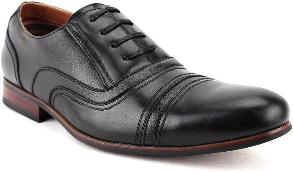 Men's 19391L Cap Toe Balmoral Lace Up Oxfords Dress Shoes