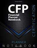 """CFP Notebook, Financial Planner Certification Exam Preparation Notebook, 140 pages, CFP examination study writing notebook, Dotted ruled/blank double ... 8.5"""" x 11"""", Glossy cover pages, Black Hex"""