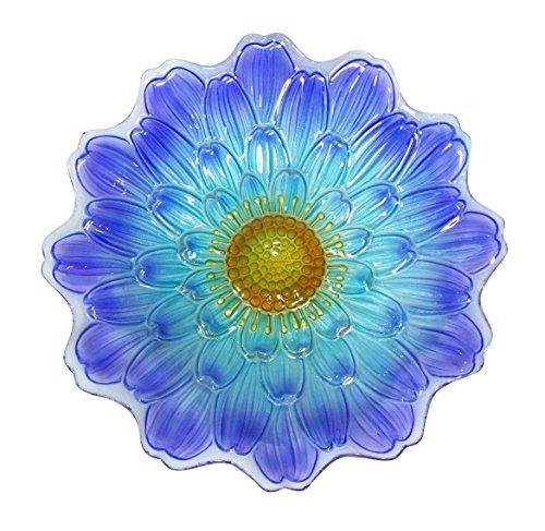 Alpine Corporation Vogeltränke mit Blauer Blume, 45,7 cm